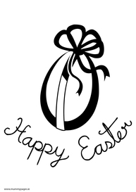 Happy Easter with Easter egg
