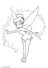 Disney Tinkerbelle with pixie dust