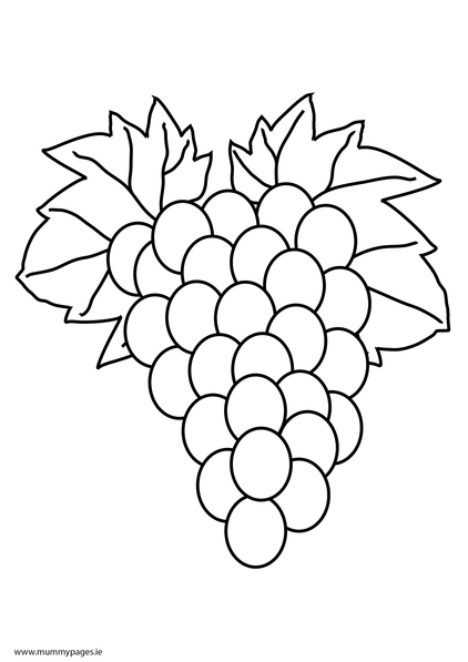 Free Coloring Pages Of Grape Bunches
