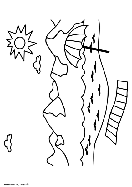 Coloring pages seaside seaside holiday for Seaside coloring pages