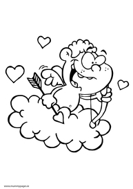 Cupid on a cloud