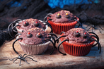 Spooky spider cupcakes