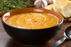 Sweet potato &amp; lentil soup