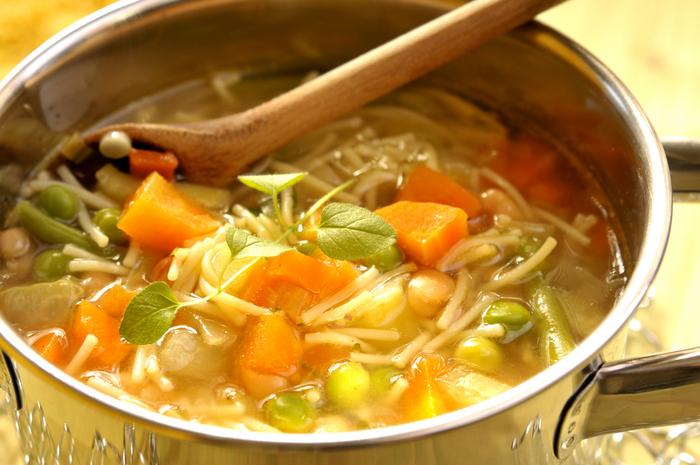 Овощной суп с макаронами рецепт