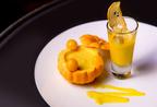Butternut soup shots with parmesan crisps