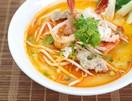 Prawn noodle soup