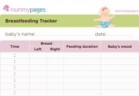 Breastfeeding tracker