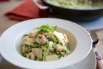 Family-Friendly Pea and Prawn Risotto