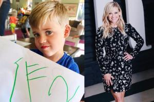 Preschool probs: Reese Witherspoons son Tennessee has difficulty spelling his name