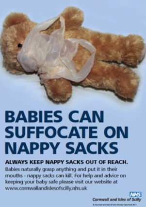 Dangers of nappy sacks