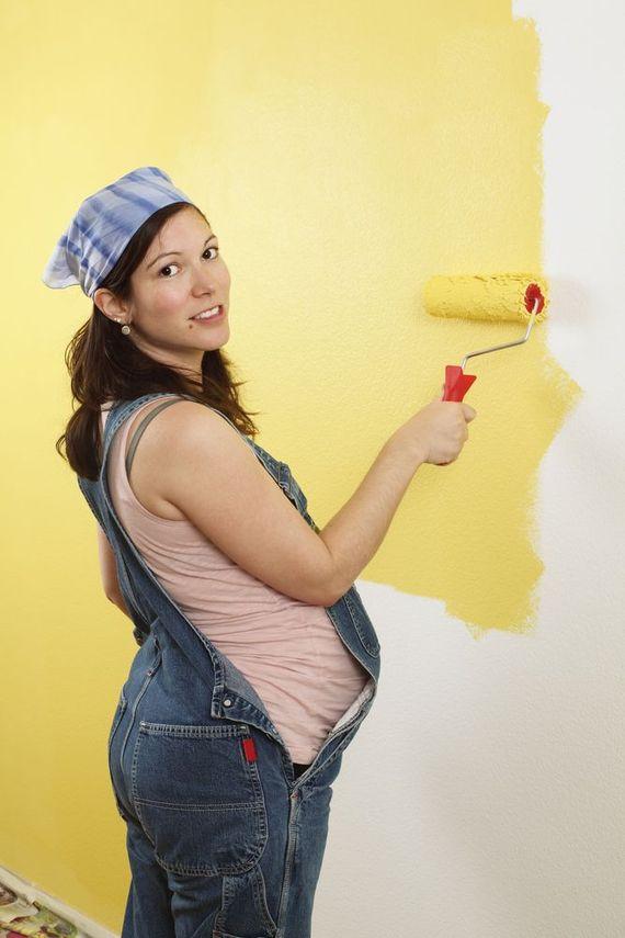 Если беременная работает на тяжелом труде