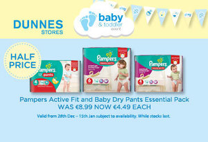 This fantastic nappies offer is available in Dunnes Stores now