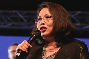 Tammy Duckworth makes history as first US senator to give birth in office