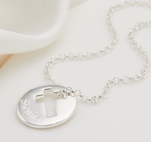 Win this gorgeous Silver Cross Childs Pendant