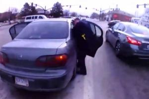 Police officers pull over to check on driver and end up saving a baby