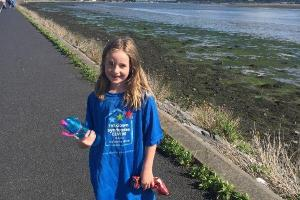 Little Lydia asks if you will join her in next months 21Km walk for Down Syndrome