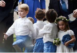 Prince George as a page boy at Kate Middletons friends wedding is too precious