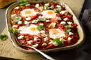 Eggs Baked with Tomatoes and Red Peppers