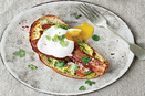 Poached Eggs, Bacon and Avocados on Toast