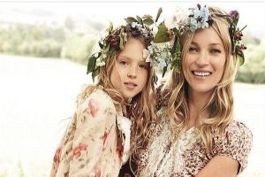 Taking after mum: Kate Moss daughter Lila stars in first modelling shoot