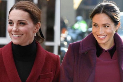 Seeing double: Meghan and Kate look stunning in matching winter outfits