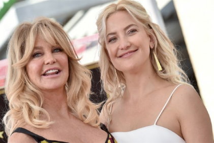 Kate Hudson reveals her mother got a bit too close to the action during labour