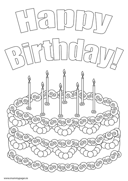 Birthday Cake With Candles Colouring Page To Download It Just Click The Pdf Button Underneath Screen Shot If You Dont Have Adobe PDF