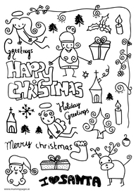 Christmas fun doodles
