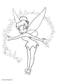 Disney Tinkerbelle with pixie dust