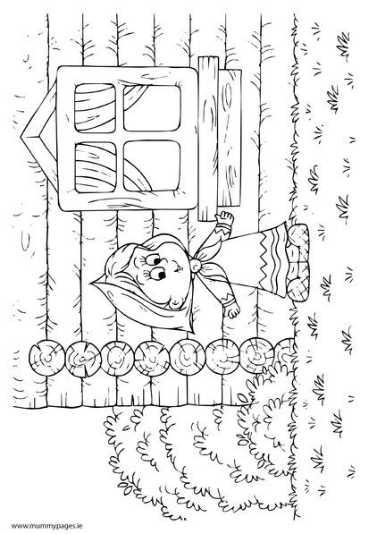 Goldilocks And The Three Bears Colouring Page