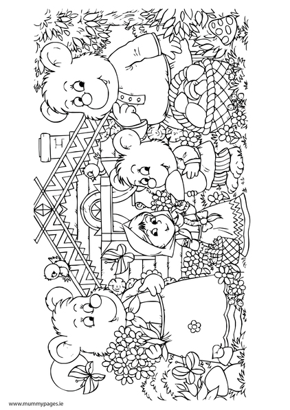 The Three Little Bears Colouring