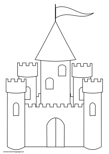 Fairytale castle Colouring Page | MummyPages.MummyPages.ie