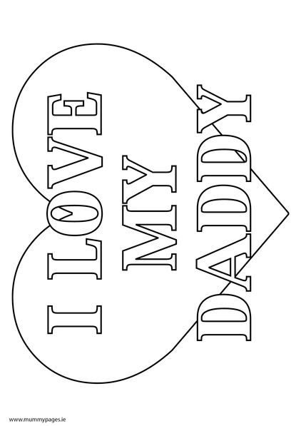 love daddy coloring pages - photo#35