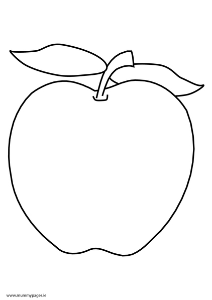 Apple Colouring Page  MummyPagesMummyPagesie