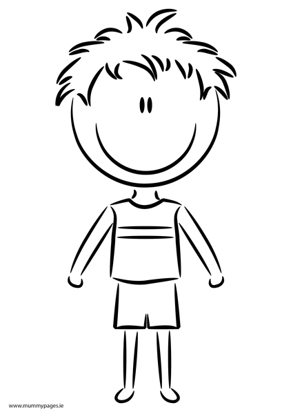 boy summer coloring pages - photo#13