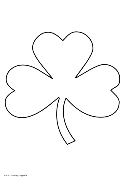 shamrock colouring page