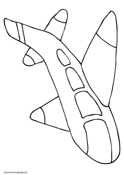 Airplane Coloring Pages Pdf : Plane colouring page mummypages ie