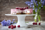 Raspberry with lemon cheesecake