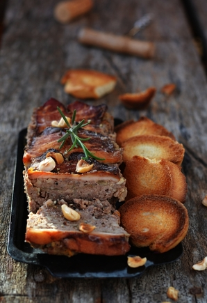Decadent terrine with cranberries and nuts