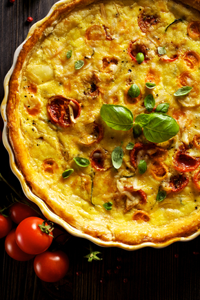 Italian styled quiche