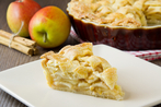 Christmas spiced apple pie