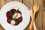 Beetroot carpaccio with radish