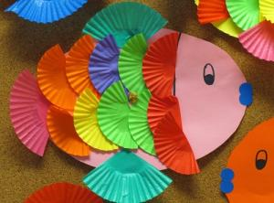 Crafts: Tropical cake paper fish