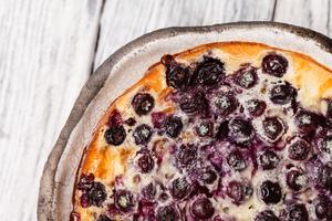 Beautiful blueberry cake