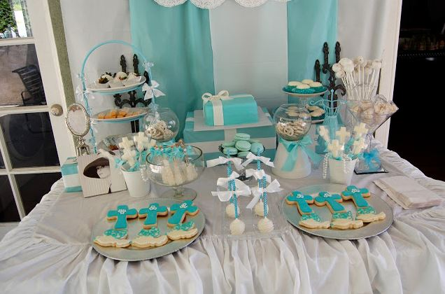 a tiffany s inspired first holy communion party