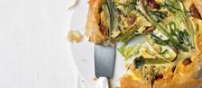 Leek vegetable filo pie