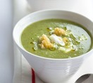 Lettuce with spring onion soup