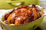 Pot-roast chicken and garlic
