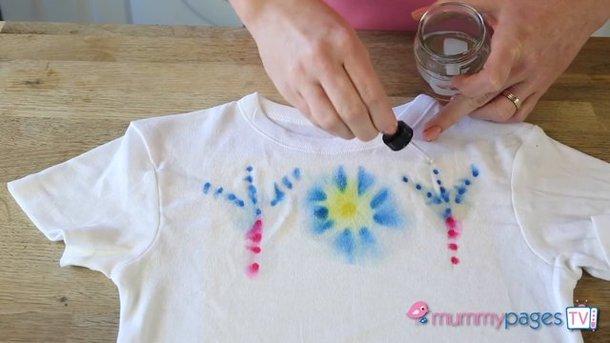 Your very own T-shirt design using tie dye