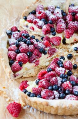 Gorgeous summer berry tart